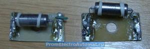 Платы с конденсаторами в пультах управления прессом ПКП-10