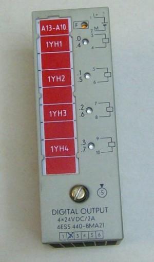 6ES5-440-8MA21. Выходной блок на 4 выхода