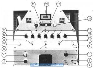 органы управления Шон SG - передняя панель