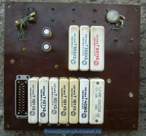 Плата электронного управления пресса ПВГ-18. Вид со стороны элементов Логика-Т