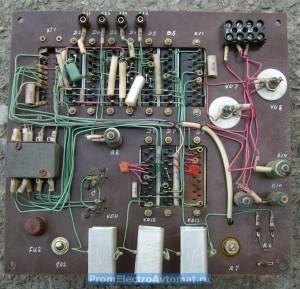 Плата электронного управления пресса ПВГ-18. Вид со стороны пайки